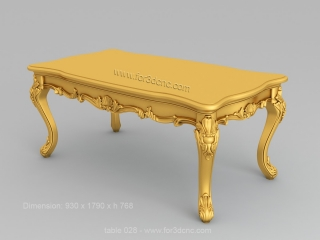 TABLE 028 | STL – 3D model for CNC