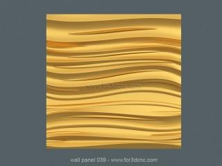 3D PANEL 039 | STL – 3D model for CNC