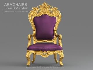 ARMCHAIRS 005 | STL – 3D model for CNC