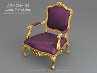 ARMCHAIRS 007 | STL – 3D model for CNC