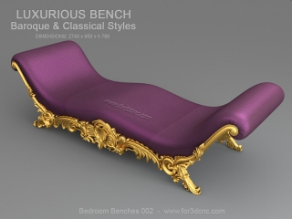 BEDROOM BENCHES 002 | STL – 3D model for CNC