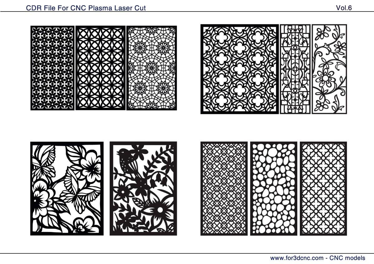 164 CNC Vector CDR Vol.6 | 2D for CNC | 3D STL MODEL FOR