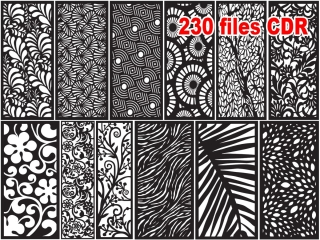 230 CNC Vector CDR Vol.4 | 2D for CNC