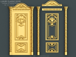 DOOR 006 | STL – 3D model for CNC