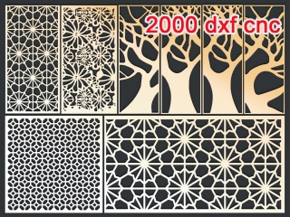 2000 CNC Vector DXF | 2D for CNC