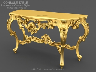 TABLE 030 | STL – 3D model for CNC