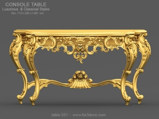 TABLE 031 | STL – 3D model for CNC