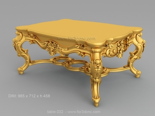 TABLE 032 | STL – 3D model for CNC