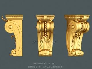 CORBELS 012 | STL – 3D model for CNC