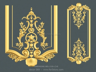 DECOR 069 | STL – 3D model for CNC