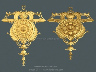 DECOR 071 | STL – 3D model for CNC