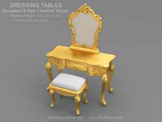 DRESSING TABLE 002 | STL – 3D model for CNC