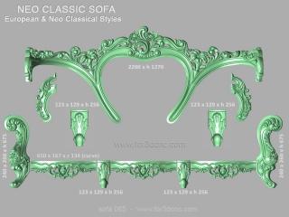 SOFA 065 | STL – 3D model for CNC