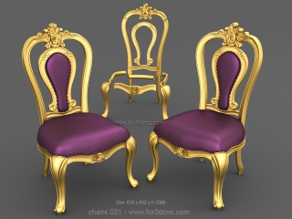 CHAIRS 031   STL – 3D model for CNC