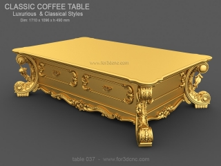TABLE 037 | STL – 3D model for CNC