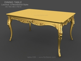 TABLE 039 | STL – 3D model for CNC