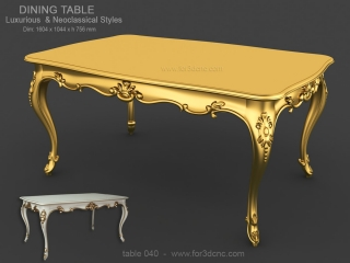 TABLE 040 | STL – 3D model for CNC