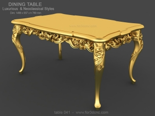 TABLE 041 | STL – 3D model for CNC