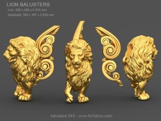 BALUSTERS 043 | STL – 3D model for CNC