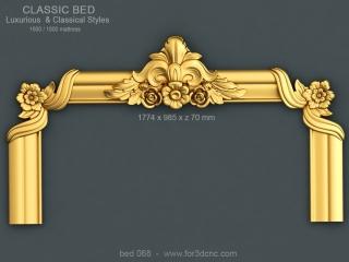 BED 068 | STL – 3D model for CNC