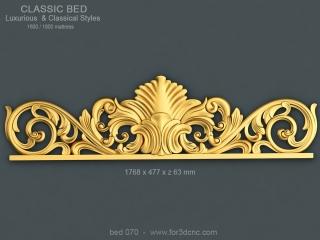 BED 070 | STL – 3D model for CNC