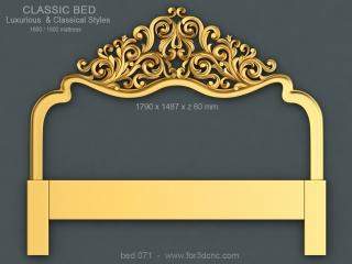 BED 071 | STL – 3D model for CNC