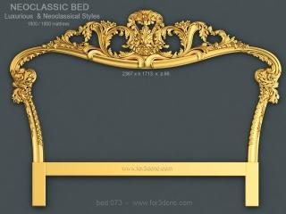 BED 073 | STL – 3D model for CNC