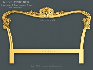 BED 074 | STL – 3D model for CNC