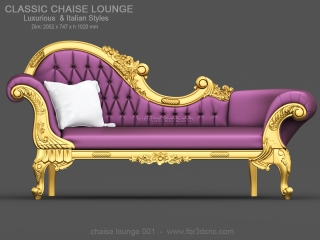 CHAISE LOUNGE 001 | STL – 3D model for CNC