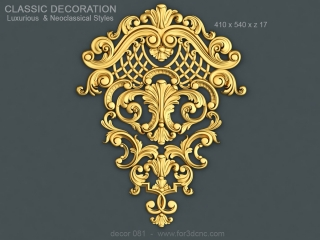 DECOR 081 | STL – 3D model for CNC