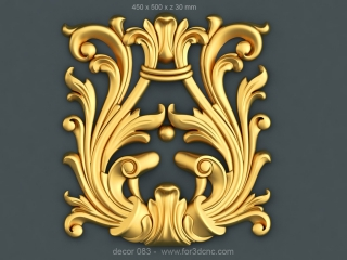 DECOR 083 | STL – 3D model for CNC