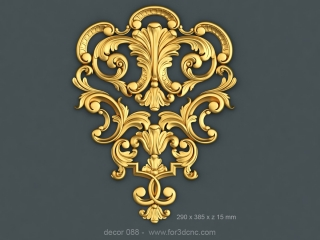 DECOR 088 | STL – 3D model for CNC