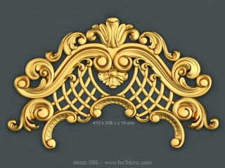 DECOR 089 | STL – 3D model for CNC