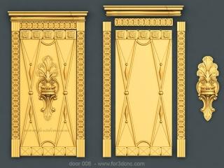 DOOR 008 | STL – 3D model for CNC