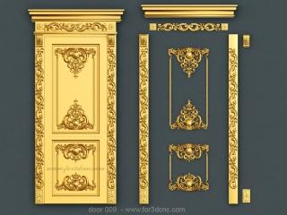 DOOR 009 | STL – 3D model for CNC