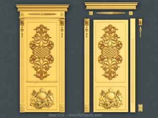 DOOR 010 | STL – 3D model for CNC