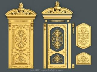 DOOR 012 | STL – 3D model for CNC