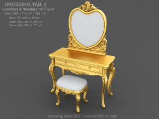 DRESSING TABLE 003 | STL – 3D model for CNC