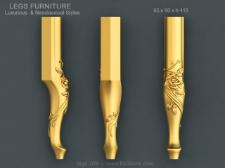 LEGS 109 | STL – 3D model for CNC