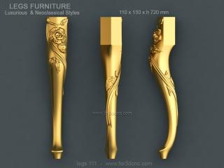 LEGS 111 | STL – 3D model for CNC