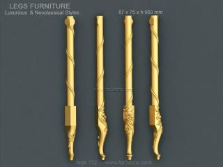 LEGS 112 | STL – 3D model for CNC
