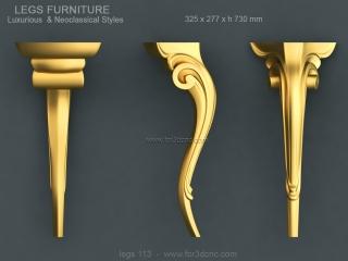 LEGS 113 | STL – 3D model for CNC
