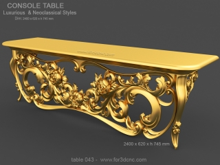 TABLE 043 | STL – 3D model for CNC