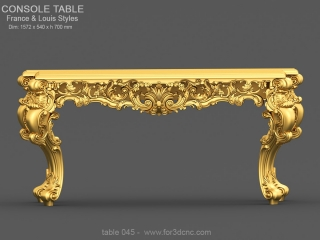 TABLE 045 | STL – 3D model for CNC