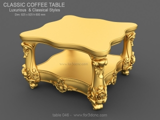 TABLE 046 | STL – 3D model for CNC