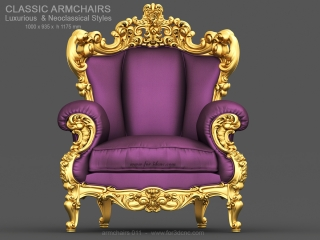 ARMCHAIRS 011 | STL – 3D model for CNC