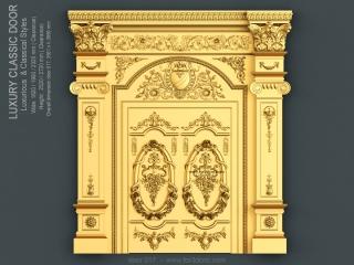 DOOR 017 | STL – 3D model for CNC