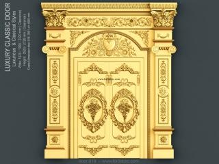 DOOR 018 | STL – 3D model for CNC