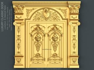 door 020a www for3dcnc com 320x240 - DOOR 020 | STL – 3D model for CNC