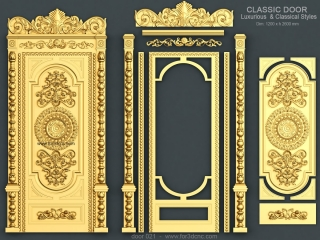 DOOR 021 | STL – 3D model for CNC